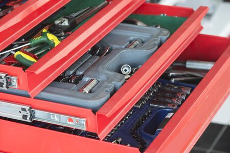 red tools drawer