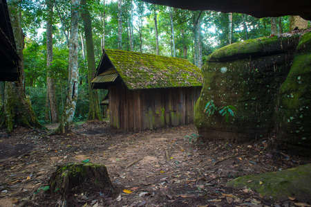 old cottage in Phu Hin Rong Kla national park,Thailand