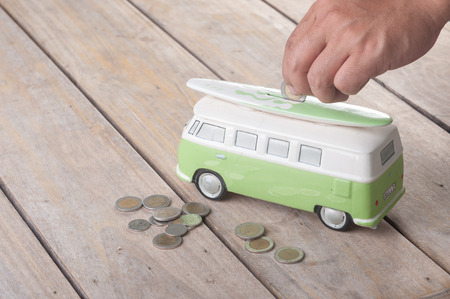 saving coins on van