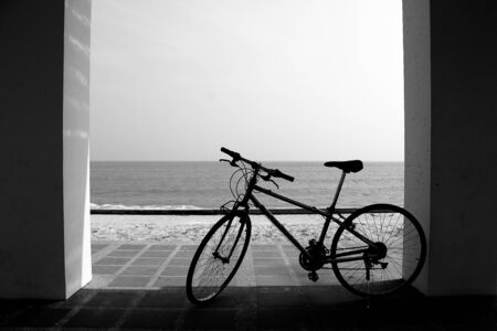 bycicle: Bycicle and beach