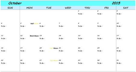october calendar: 2015 octubre Calendario