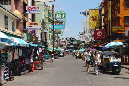 a place of life: Bangkok Thailand 30 May 2015. On 30 May 2015  Khao San Road one of most must visit attraction place in bangkok many life style and many thing to do and buy.