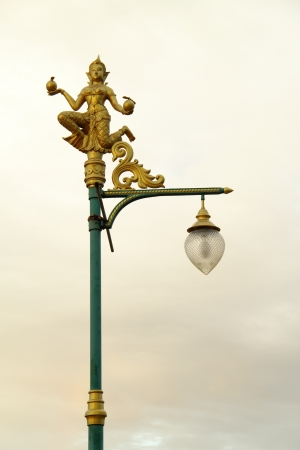 Thai angle on street lamp photo