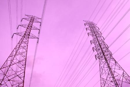 High voltage pole  photo