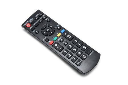tv remote: TV remote on a white background  Stock Photo