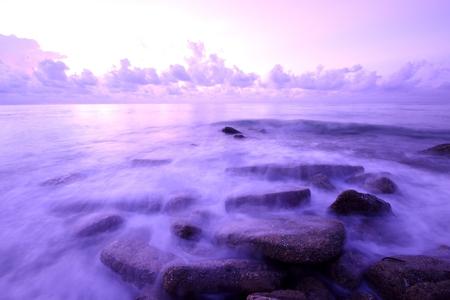 Long exposure photo of beach photo