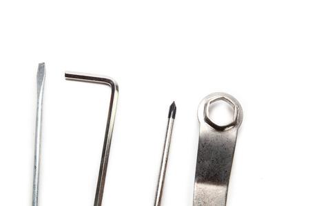alligator wrench: Spanner on white background