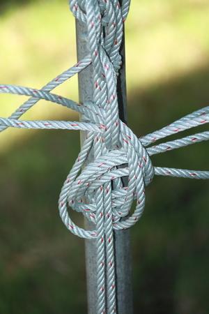 slipped: rope Stock Photo