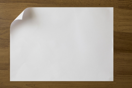 white paper on the wood background Stock Photo