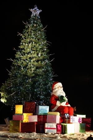 santa and gift