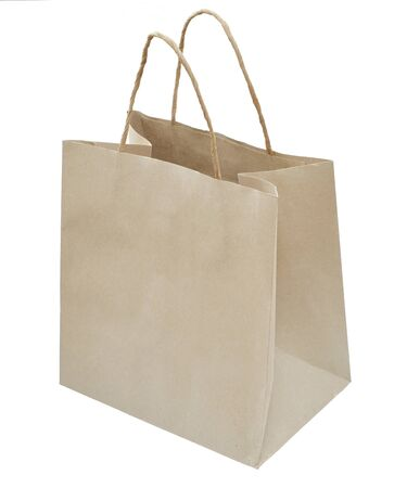 paper bags on the white background Stock Photo