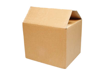 brown box on the white background