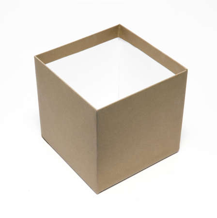 gold box on the white Stock Photo