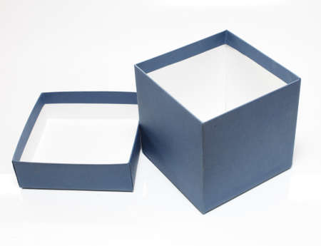 box and lid on the white