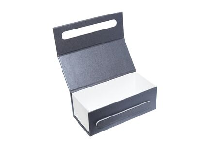gray box on the white color Stock Photo