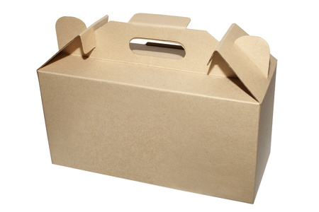 packer: take a way box on the white color Stock Photo