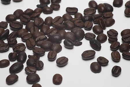 the coffee beans are quarlity product Stock Photo