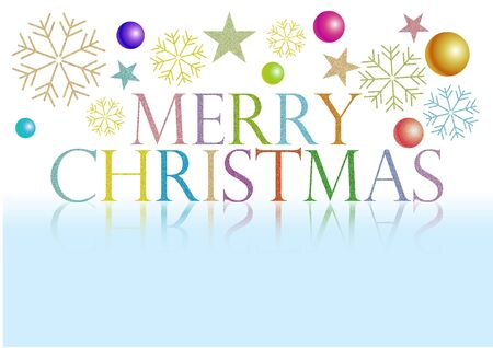 merry christmas the colorful letters Stock Photo