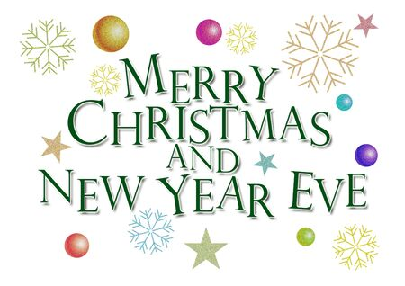 merry christmas and new year eve Stock Photo