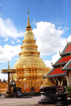 the haripunchai relics of thailand Stock Photo