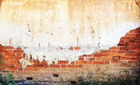 old brick wall in the past Stock Photo - 18172430