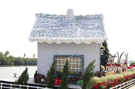 the christmas home on the white background Stock Photo - 20232158