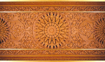 wood carvings: Wood carvings  Fine beautiful calligraphy Stock Photo