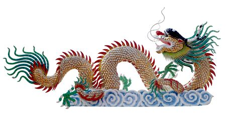 dragon on the white background photo