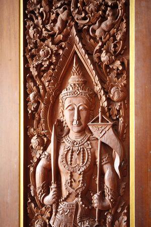 wood carvings thailand best craftsman  photo