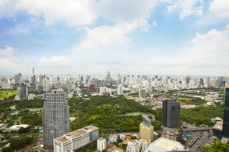 Landscape of Big Garden in Bangkok Thailand