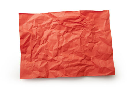 Red paper isolate white Stock Photo