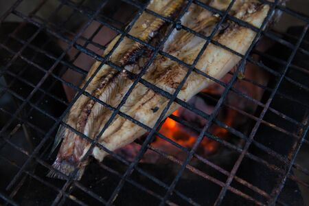 Grilled fish local in thailand Stock Photo