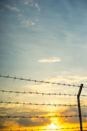 Behind the barbed wire is freedom