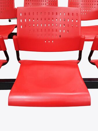 Red chairs for waiting rooms. Stock Photo