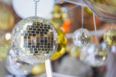 Christmas glass ball hanging around