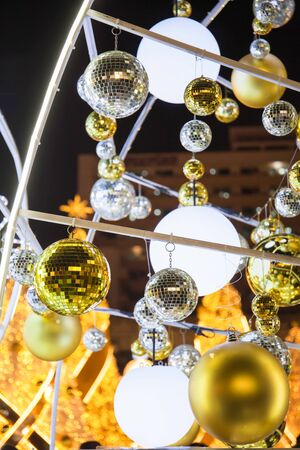 Christmas glass ball hanging around