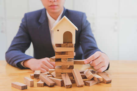 Real estate planning and financial investment risk prevention, prevent the risk of the house.plan and strategy in business.
