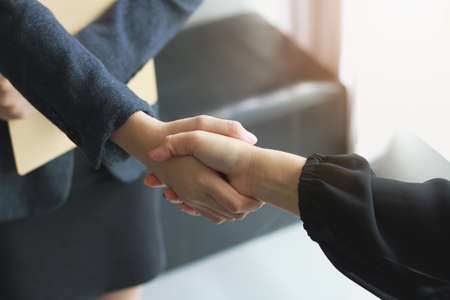 Business handshake. Two businessmen reaching an agreement and making a deal. Zdjęcie Seryjne