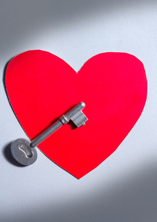 Key for heart, love, mind  photo