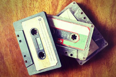 Vintage old cassette tape
