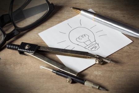Idea on plan Stock Photo - 24906758