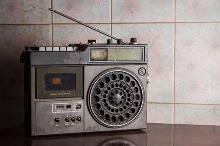 Antique radio,retro object in still life  photo