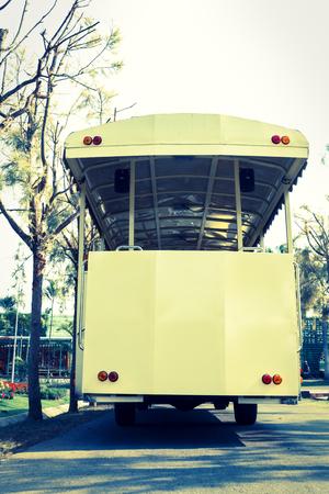 tramcar: Tramcar,vintage light style,old transportation  Stock Photo