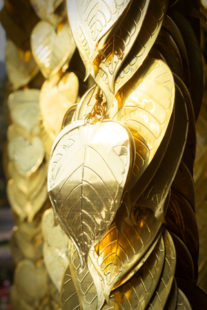 bod: Golden leave in temple,decoration tools