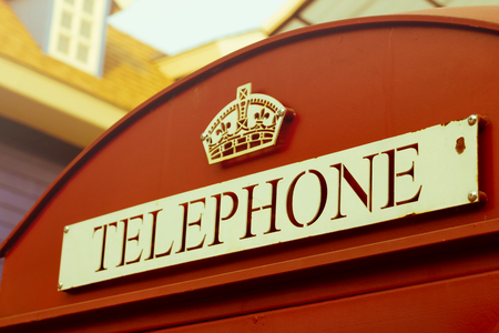 British callbox,Vintage style color