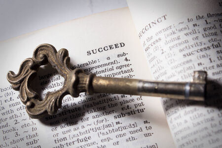 Key of  succeed ,business or education concept  Stock Photo