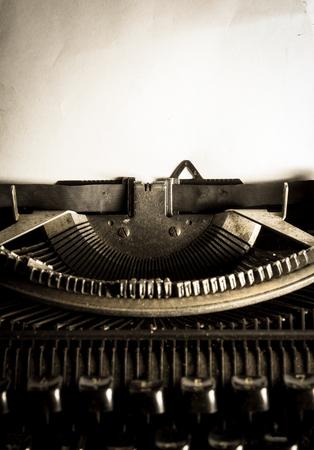 Vintage filtered image of typewriter,still life style. Stock Photo