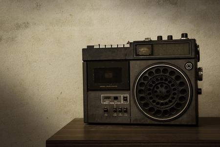Vintage filtered of old retro radio,still life. photo