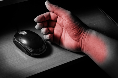 carpal tunnel: Trigger Finger or Carpal Tunnel syndrome,health concept.