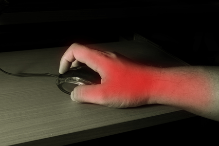 Trigger finger or Carpal Tunnel syndrome,pain from use computer mouse. photo